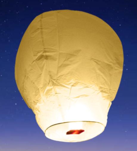 Lot Lanterne Céléste volante chinoise avec bruleur